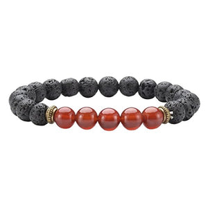 SHIP BY USPS: Top Plaza 7 Chakra Healing Bracelet with Real Stones, Lava Diffuser, Mala Meditation Mens Womens Religious Stretch Bracelets - Protection, Energy, Healing, Aromatherapy