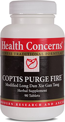 SHIP BY USPS: Health Concerns - Coptis Purge Fire - Modified Long Dan Xie Gan Tang Herbal Supplement - 90 Tablets