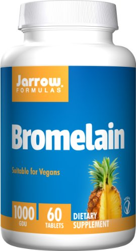 SHIP BY USPS: Jarrow Formulas Bromelain, Supports Protein Digestion and Joint Health, 1000 GDU, 60 Easy-Solv Tabs