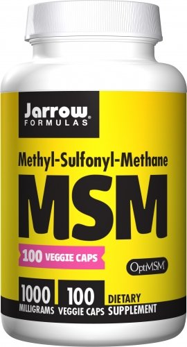 SHIP BY USPS: Jarrow Formulas MSM Sulfur, For Beauty and Joint Health, 1000 mg, 100 Veggie Caps