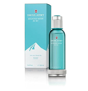SHIP BY USPS Swiss Army Mountain Water for Her Eau-de-Toilette Spray, 3.4-Ounce