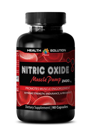 Nitric oxide fat burner - NITRIC OXIDE MUSCLE PUMP 2400MG - increase physical performance (1 Bottle)