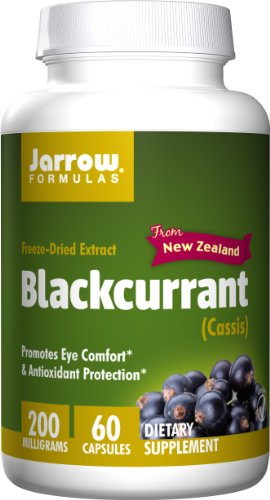 SHIP BY USPS: Jarrow Formulas Black Currant Freeze-Dried Extract, Promotes Eye Comfort & Antioxidant Protection, 200 mg, 60 Capsules
