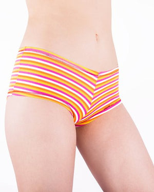 Women's 12 Pack Cotton Spandex Sexy Boyshort Panty Briefs
