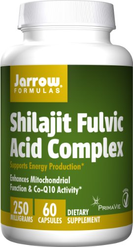SHIP BY USPS: Jarrow Formulas Shilajit Fulvic Acid Complex 250 Mg, Supports Energy Production, 60 Veggie Caps