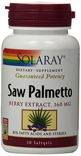 Solaray Saw Palmetto Berry Extract Supplement, 160 mg, 30 Count