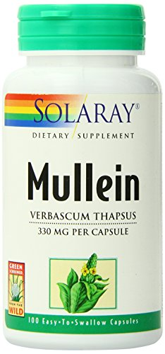 SHIP BY USPS: Solaray Mullein Leaves Capsules, 330 mg, 100 Count