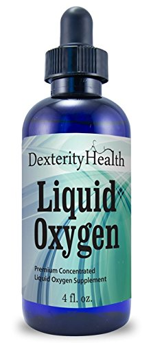 Liquid Oxygen Drops, Stabilized Oxygen Drops, Premium Concentrated Liquid Oxygen Supplement, 4 Ounces