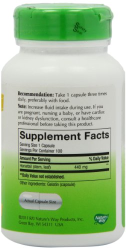 SHIP BY USPS: Nature's Way Horsetail Grass, 440 mg,  100 Capsules