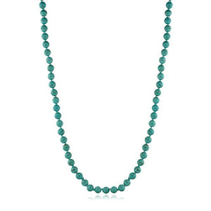 SHIP BY USPS: 24 Inch Stunning Beads Simulated Turquoise Howlite Necklace and Earrings Set