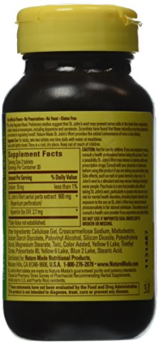 SHIP BY USPS: Nature Made Time Release St. John's Wort, 450mg Capsules - 40 count