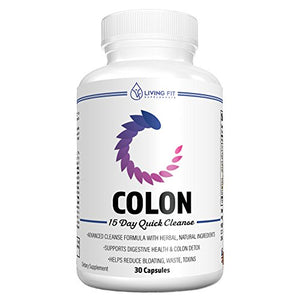 SHIP BY USPS: Living Fit Colon Cleanse: 15 Day Quick Cleanse to Support Weight Loss, Detox & Increased Energy...