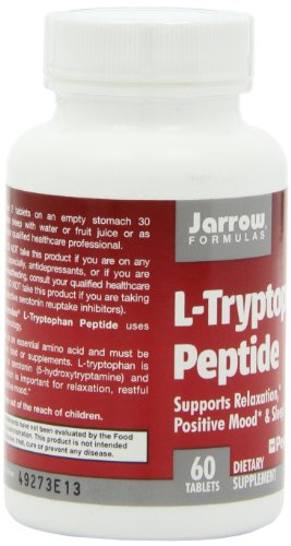 SHIP BY USPS: Jarrow Formulas L-Tryptophan Peptide Nutritional Supplement, For Relaxation, Positive Mood & Sleep, 60 Tabs