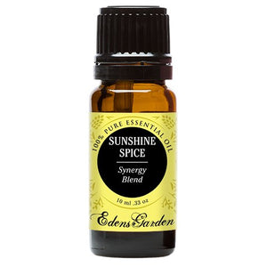 SHIP BY USPS Sunshine Spice Synergy Blend Essential Oil by Edens Garden- 10 ml (Balsam, Camphor, Cinnamon Bark, Cinnamon...