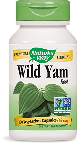 SHIP BY USPS: Nature's Way Wild Yam Root, 425 mg, Capsules 100 ea