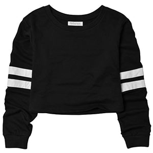 Perfashion Cropped Sweatshirts Women, Long Sleeve Cute Crop Top Shirt Cotton Pullover