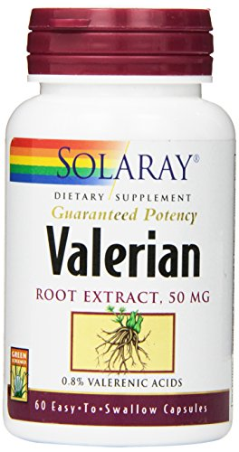 SHIP BY USPS: Solaray Guaranteed Potency Valerian Root Extract 50 mg Capsules, 60 Count