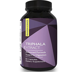 SHIP BY USPS: Triphala Capsules Colon Cleanse & Detox Natural Herbal Laxative Supplement for Constipation...