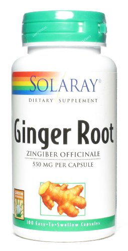 SHIP BY USPS: Solaray - Ginger Root 550 mg. - 100 Capsules