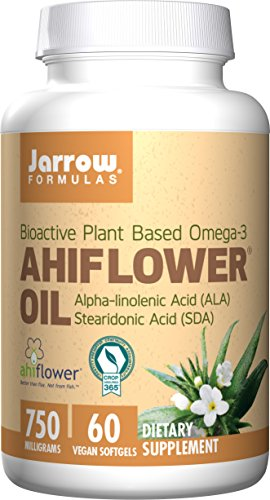 SHIP BY USPS: Jarrow Formulas Ahiflower Oil, Supports Brain and Memory, 750 mg, 60 Count