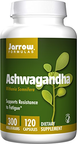 SHIP BY USPS: Jarrow Formulas Ashwagandha 300 mg, Supports Resistance to Fatigue, 120 Veggie Caps