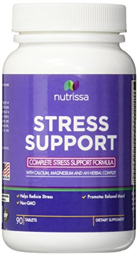 [2 Bottles] Stress and Anxiety Relief Supplement - Vitamins B and C, Calcium, Magnesium, PABA, Pantothenic Acid, Folic Acid, Hops,...