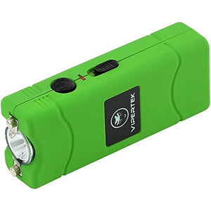 [3 Pack] VTS-881 - 430,000,000 Micro Stun Gun - Rechargeable with LED Flashlight, Green