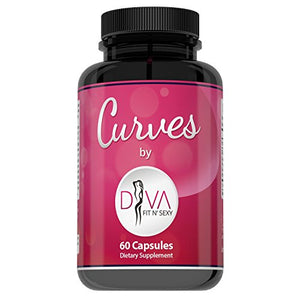 Curves Butt Enhancement Pills for Women by Diva Fit & Sexy - Fast and Effective Enlargement Product That Works -...
