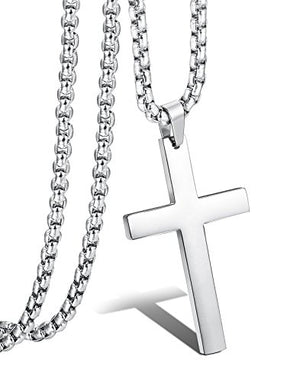 SHIP BY USPS Jstyle Jewelry Mens Simple Cross Necklace Stainless Steel Pendant for Women 22 24 Inch