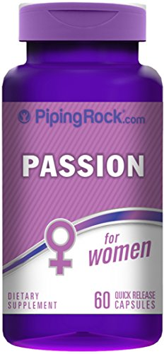 Piping Rock Women's Libido Passion 60 Quick Release Capsules Dietary Supplement