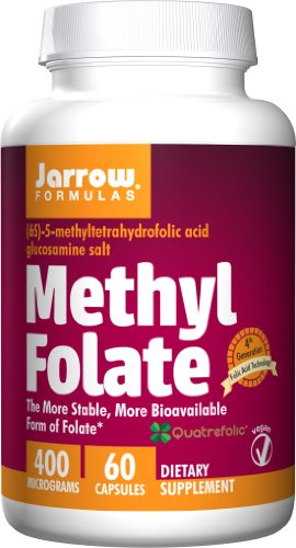 SHIP BY USPS: Jarrow Formulas - Methyl Folate 60 caps (Pack of 2)