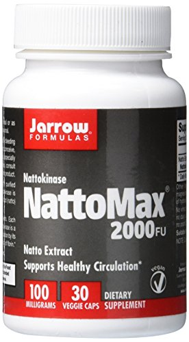 SHIP BY USPS: Jarrow Formulas NattoMax, Supports Healthy Circulation, 100 mg, 30 Veggie Caps