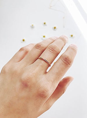 HONEYCAT Rainbow Tiny Crystal Bezel Ring in Gold, Rose Gold, or Silver | Minimalist, Delicate Jewelry