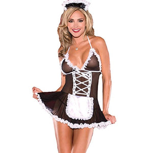 Woman's Sexy Lingerie Outfits Lace, Frisky French Maid Sexy Costume for Women