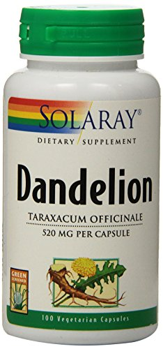 SHIP BY USPS: Solaray Dandelion Root Capsules, 520 mg, 100 Count