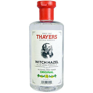 [Pack of 2] Thayers Witch Hazel with Aloe Vera, Original Astringent 12 oz each