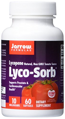 SHIP BY USPS: Jarrow Formulas Lyco-Sorb , Supports Prostate & Cardiovascular Health, 10 mg, 60 Softgels