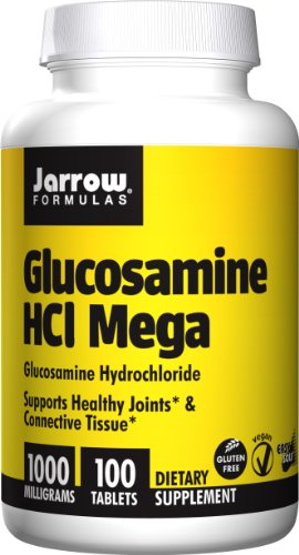 SHIP BY USPS: Jarrow Formulas Glucosamine HCl Mega , Supports Healthy Joints & Connective Tissue, 1000 mg, 100 Easy-Solv Tabs
