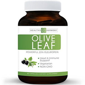 SHIP BY USPS - #1 Best Seller - Best Olive Leaf Extract (NON-GMO) 60 capsules Super Strength: 20% Oleuropein - 750mg - Vegetarian - Immune...