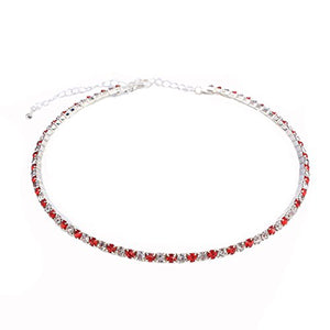 SHIP BY USPS: Santfe Rhinestone Crystal Choker Necklace Costume Jewelry for Wedding Prom Party
