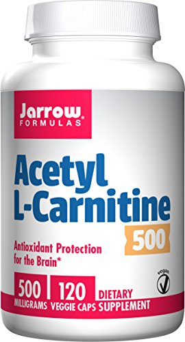 SHIP BY USPS: Jarrow Formulas Acetyl L-Carnitine, Antioxidant Protection for the Brain,  250mg, 60 Caps