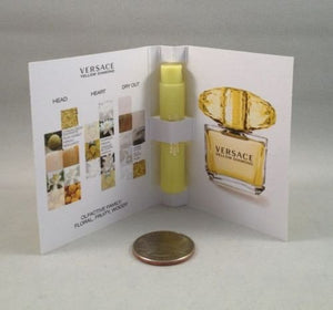SHIP BY USPS 5 Versace Yellow Diamond Eau De Toilette 1 Ml/.03 Oz Spray Sample Vial Lot