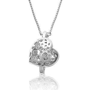 Mother's Day Gift! Show Your MOM and/or Your NANA How Much She is Loved! Heart Pendant Necklace (Made with Swarovski)