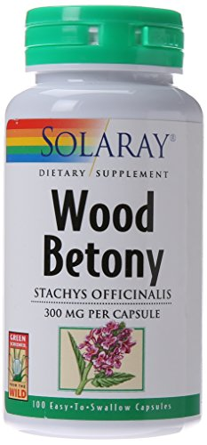 SHIP BY USPS: Solaray Wood Betony Capsules, 300 mg, 100 Count