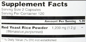 SHIP BY USPS Pure Naturals Red Yeast Rice Dietary Supplement, 1200 Mg, 240 Count