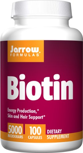SHIP BY USPS: Jarrow Formulas Biotin 5000mcg, Energy Production, Skin and Hair Support, 100 Caps