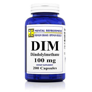 SHIP BY USPS: DIM 100mg, 200 Capsules - (Diindolylmethane) (1 Bottle)