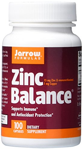 SHIP BY USPS Jarrow Formulas Zinc Balance 15 mg, Supports Immune and Antioxidant Protection, 100 Caps