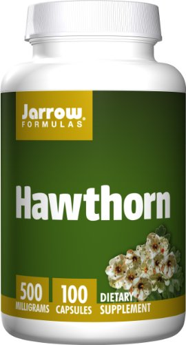 SHIP BY USPS: Jarrow Formulas Hawthorn, Promotes Healthy Circulation and Antioxidant Protection,  500mg, 100 Caps