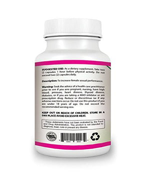 100% Natural Libido Booster for Women | Female Sexual Enhancement Capsules | Ease Menopause Symptoms |...
